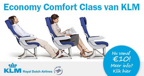 Geniet van KLM Comfort Class