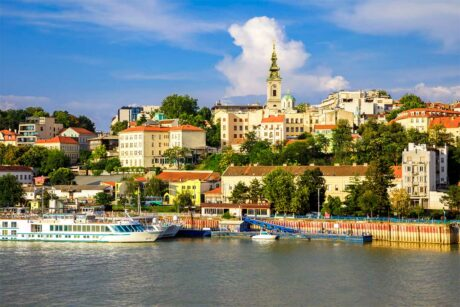 Zicht op de oude stad van Belgrado
