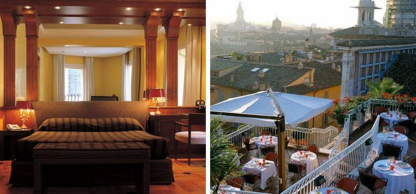 5 luxe hotels in rome. Black Bedroom Furniture Sets. Home Design Ideas