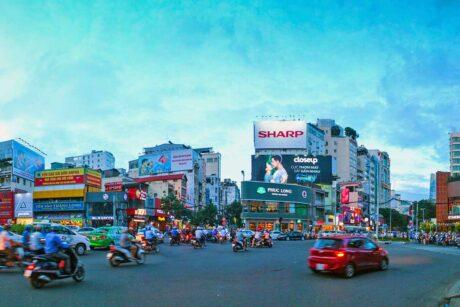 Saigon - Ho Chi Minh City bij zonsondergang