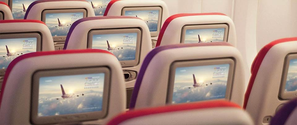 Inflight entertainment van THAI
