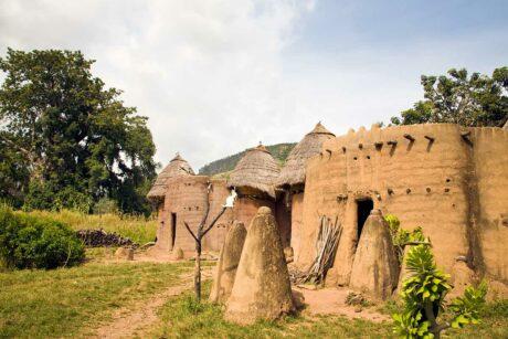 Togo, Africa: Dorp in Koutammakou